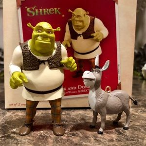 2003 Hallmark Shrek and Donkey Christmas Ornament